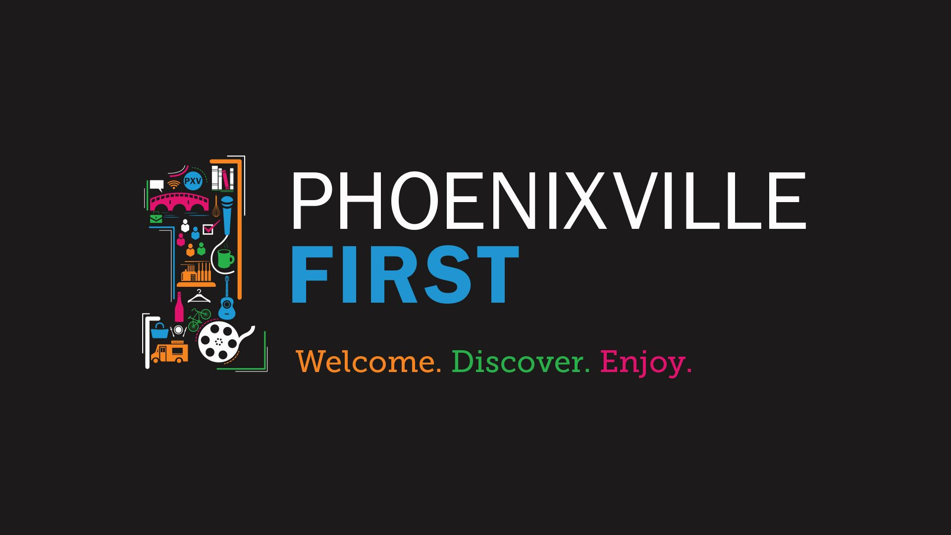 Phoenixville First Logo in Black