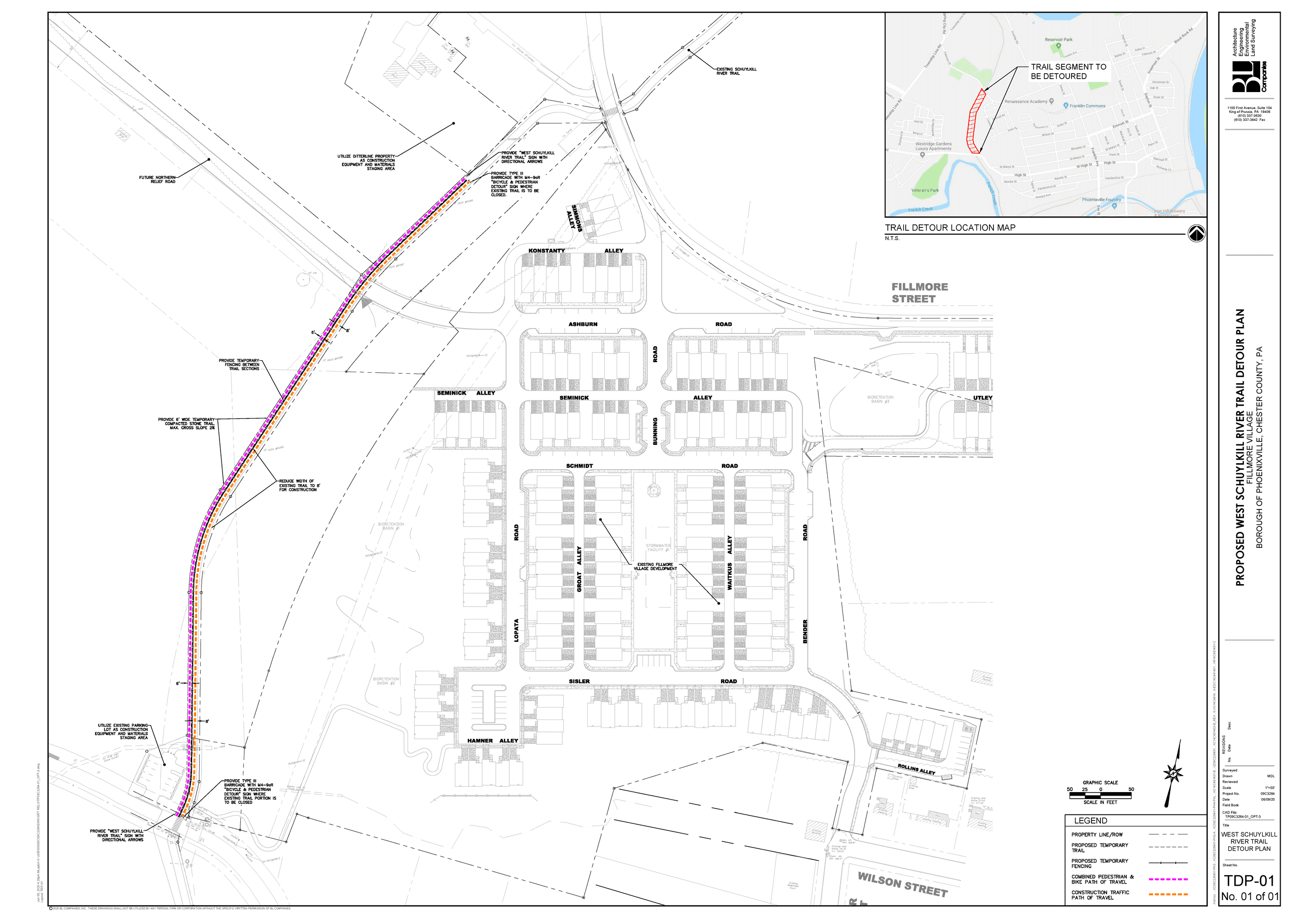 SRT Construction Map - December 2020 to February 2021