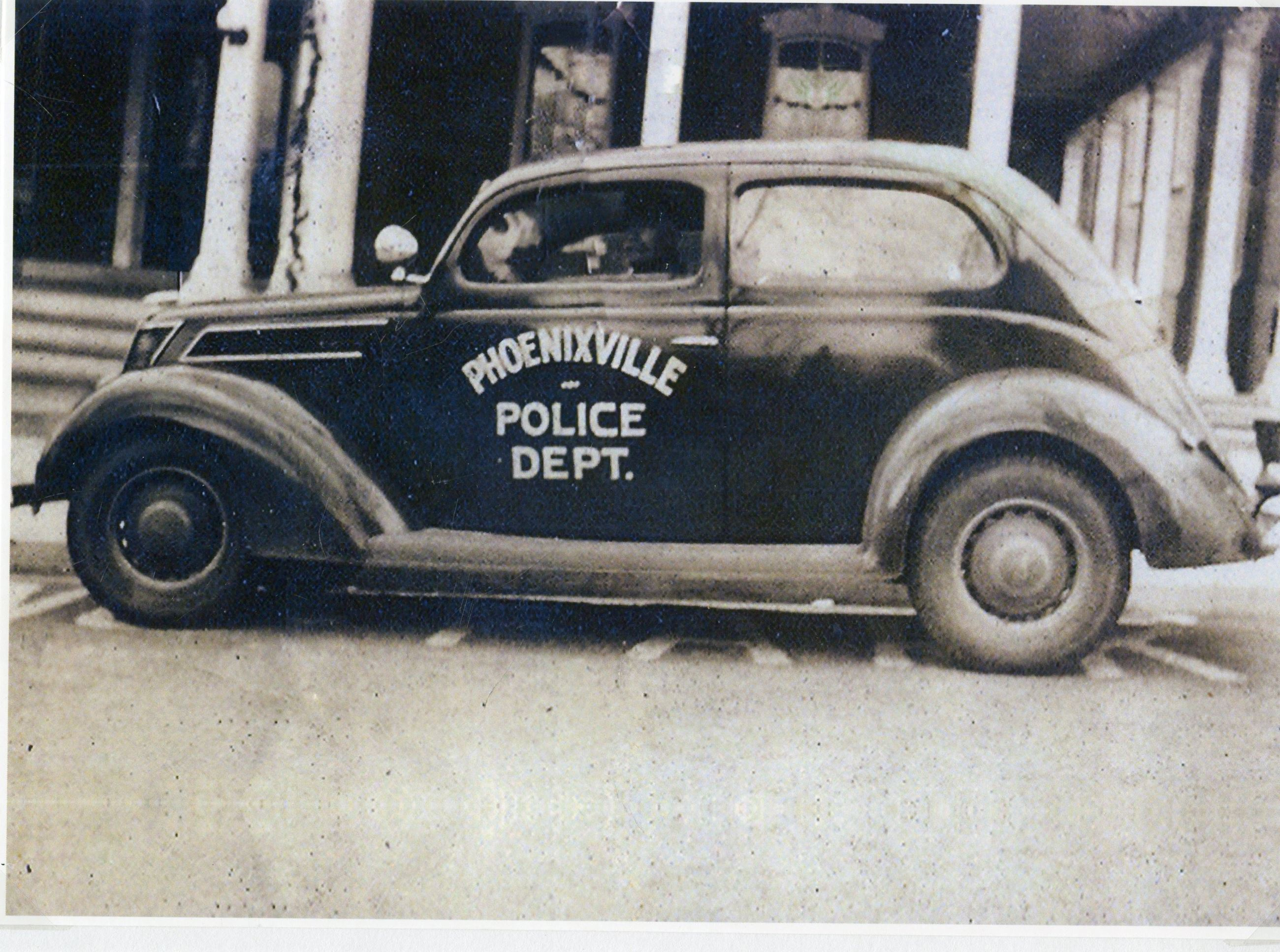 Early Phoenixville Police Departent vehicle
