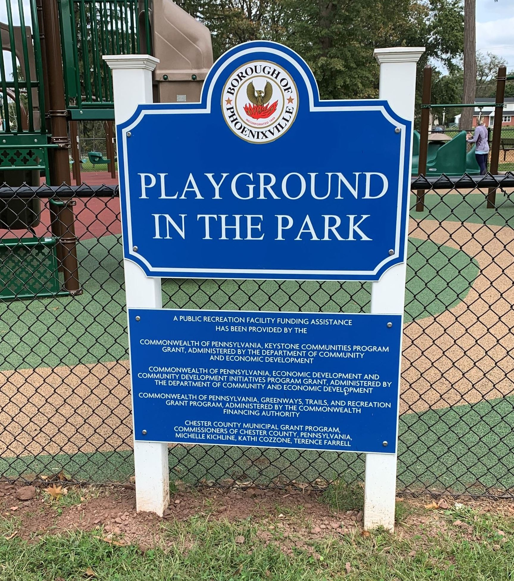 Playground in the Park Sign